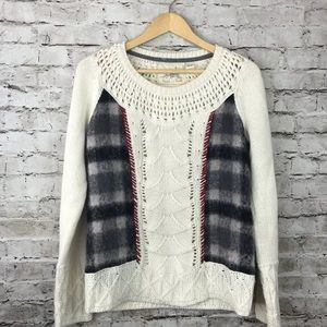 Anthropologie angel of the north plaid sweater